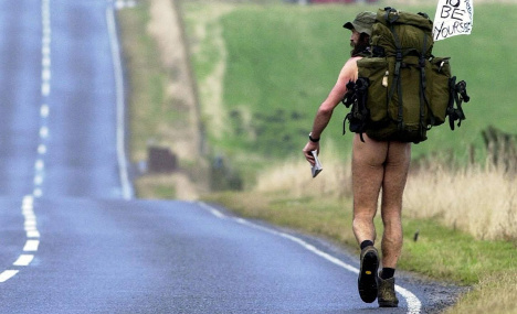 Nudist walkers told to keep their clothes on