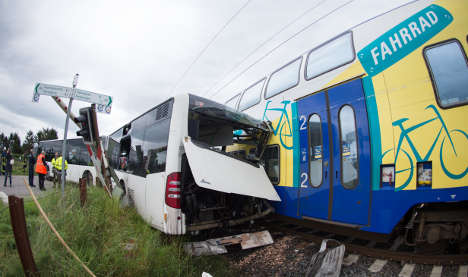 Driver 'froze' as train hurtled towards bus