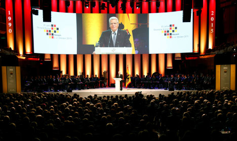Germany fetes unity with call for tolerance