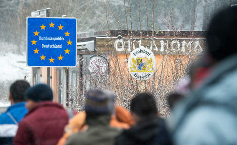 Storms and borders stem refugee flow to Germany