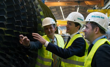 Osborne woos German firms with 'shared values'