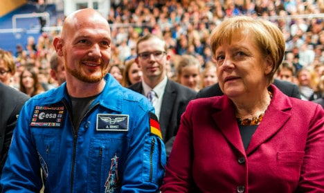 German astronaut calls for 'peace and tolerance'