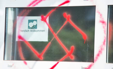 German teacher fined for painting over swastikas