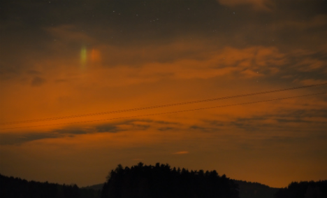 Northern Lights enchant in rare Germany showing