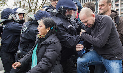 Asylum activists arrested for anti-AfD protest