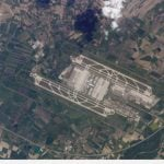 The beautiful symmetry of Munich airport when seen from outside the earth's atmosphere.Photo: Nasa