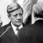 Schmidt being sworn in as Chancellor in 1974. He was elected after Willy Brandt had to step down over an East German spy in his entourage.Photo: DPA