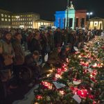 """<b>Germany mourns November Paris attacks, gears up for military aid.</b> Germany joined the worldwide mourning of the November 13th Paris attacks. But authorities also got active. Police raided people thought to be terrorist suspects around the country, though no charges were made. A <a href=""""http://bit.ly/1ITPeoq"""">bomb threat against a football match in Hanover</a> proved non-dangerous and the Luftwaffe began <a href=""""http://bit.ly/1OvSy5O"""">aiding the French in fighting Isis in Syria</a>.Photo: DPA"""