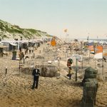 Holidaymakers at Westerland resort on the North Sea island of Sylt - which remains a top-class German holiday destination to this day.Photo: Collection Marc Walter/Taschen