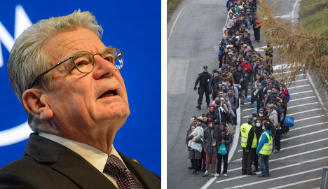 'Limit refugee numbers or lose public support': President