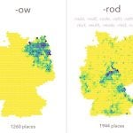 The -ow prefix's connection to Poland can be clearly seen from its restriction to northeastern Germany - formerly western Prussia - while -rod is mostly a central German phenomenon.Photo: Moritz Stefaner