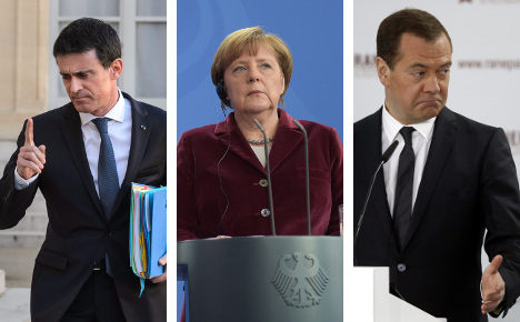 France and Russia blast Merkel's refugee policy