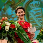 Daniela Undeutsch was winner of a very Deustch competition, becoming wine queen in Saxony in 2015.Photo: Photo: DPA