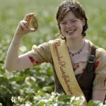 There are even potato queens. This is Kristine Dahmen who given the honour in 2006.Photo: Photo: DPA