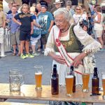 Being young also isn't a precondition. 81-year-old Christel Schwanz almost became beer queen of Brandenburg in 2015.Photo: Photo: DPA