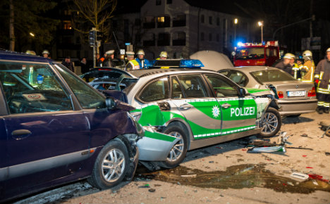 Unlicensed, uninsured and drunk man smashes cop car