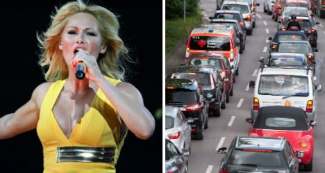 Terrible pop star caused worst traffic chaos of 2015