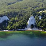 """<b>Jasmund National Park</b>. The plunging white """"chalk"""" cliffs of the <i>Königsstuhl</i> (king's chair) and the sprawling green beech forest along the shores of the Baltic island Rügen have bewitched hundreds of thousands of visitors each year and earned this park a spot on UNESCO's World Heritage List. It's definitely not a park to miss.Photo: <a href=""""http://bit.ly/1Xv9X4D"""">Klugschnacker</a>/Wikimedia Commons."""