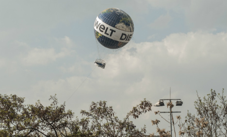 Tourist terror as iconic Berlin balloon thrashed by winds