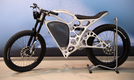 German company unveils 3-D printed motorcycle