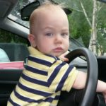 Police catch 3-year-old joyriding in mother's car