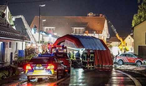 Whirlwinds, rain continue to batter Germany
