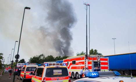 130 refugees rescued as home goes up in flames