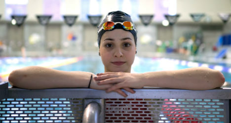 Berlin refugee teen prepares to swim at the Olympics