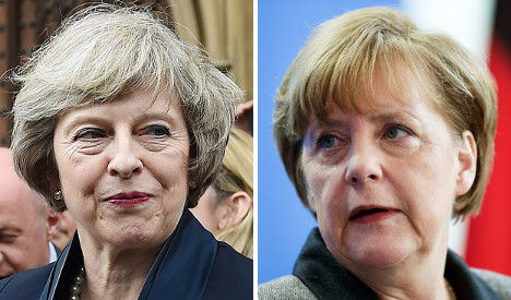 Merkel expects Britain's May to 'quickly' define EU ties