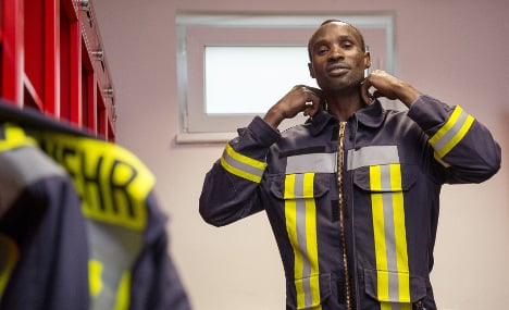 Refugees 'become German' through voluntary fire fighting