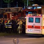 Ambulances and fire trucks come to the rescue of the injured.Photo: Photo: DPA