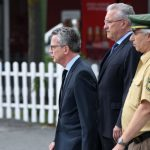German Interior Minister Thomas de Maiziere (Christian Democratic Union) and Bavarian Interior Minister Joachim Herrmann (Christian Social Union) are picking up the pieces after attacks on Würzburg and Munich.Photo: Photo: DPA