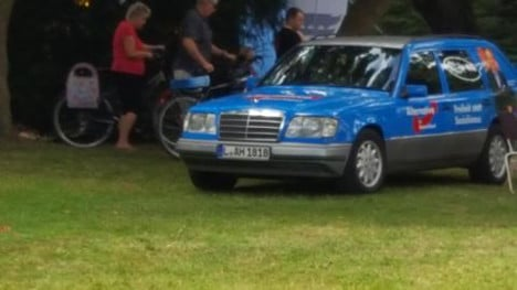 AfD accused of using neo-Nazi symbols on campaign car