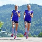 <b>The Hahner twins</b> Anna and Lisa are the world's fastest marathon-running twins, and they're gunning to win big at Rio. Photo: DPA