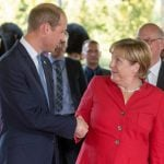 And then it was time to meet the Big Cheese, Chancellor Merkel, and it seemed she was very pleased to meet him...Photo: DPA