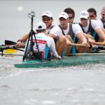 <b>The men's eight</b>, who won gold in the rowing at the 2012 Olympics, are looking for vengeance against the British crew, who beat the Germans by only eighteen hundredths of a second at the World Cup last year. Photo: DPA
