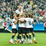 <b>The women's football team</b>, coached by Silvia Neid, are three-time bronze medallists at the Olympics and the current European champions. They will battle it out to gain similar success at Rio. Photo: DPA