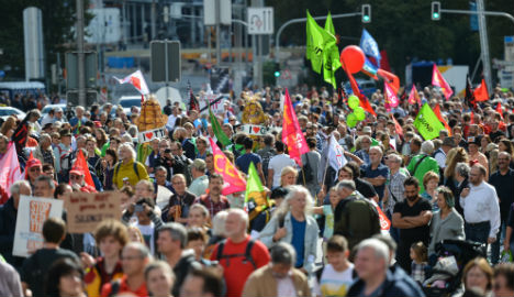 More than 160,000 join German trade deal protest