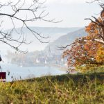 A hiker near Hödingen, Baden-Württemberg looks out over Bodenssee (Lake Constance).Photo: DPA.