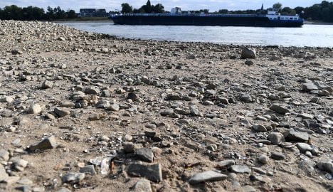 Rhine river's low water levels causing ships to run aground