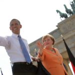 Obama arrives in Berlin ready to pass torch to Merkel