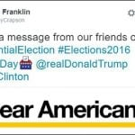 This is the German tweet angering Trump supporters