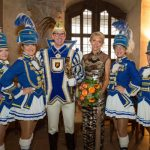 """In Würzburg, this year's Karneval """"royal couple"""" pose for a photograph.Photo: DPA"""