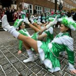 Young women dance at the opening of the Karneval in Cottbus, Brandenburg.Photo: DPA