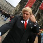 Some decided to dress to a slightly different Karneval theme, such as this man in Cologne.Photo: DPA