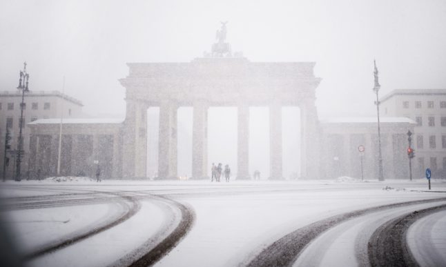These photos show just how much snow Germany got so far this year