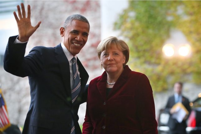 Obama thanks 'courageous' Merkel in final call with a foreign leader