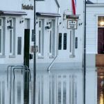 The river Trave burst its banks, swamping the old town of Lübeck, a UNESCO world heritage site.Photo: DPA