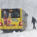 Some in Bavaria braved the storm Friday morning and took public transport.Photo: DPA