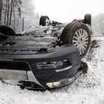The snow wreaked havoc across Germany, overturning this car in Mecklenburg-Western Pomerania.Photo: DPA